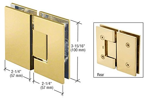 C.R. LAURENCE V1E180BR CRL Brass Vienna 180 Series Glass-to-Glass Hinge ()