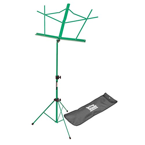 Vertical Compact - On Stage SM7122GRB Compact Sheet Music Stand with Bag, Green