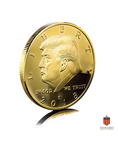 The Official 2018 Gold Donald Trump Commemorative Coin - Authentic 24k Gold Collectible Coin of 45th President of the United States - Republican Collectibles Challenge Memorabilia Gift [CASE - Gift Collectible