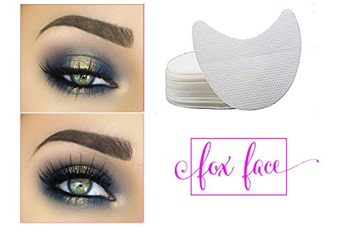 Fox Face BEST Eyeshadow Shields 50 count, EASY to use and remove to prevent eyeshadow fallout, and create a perfect eyeshadow edge. Time-saving, ULTIMATE multi-tasking beauty tool, NO - Cat Perfect Eye