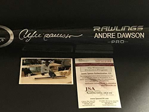 Andre Dawson Chicago Cubs Autographed Signed Baseball Bat JSA WITNESS COA Black