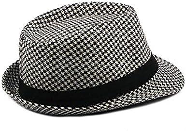 Cosanter Chapeau de Gentleman de Texture Jazz Chapeau Casquette Fedora Chapeaux de Soleil de Plage Chapeau de Jazz Cap pour Musique Danse Performance de Danse
