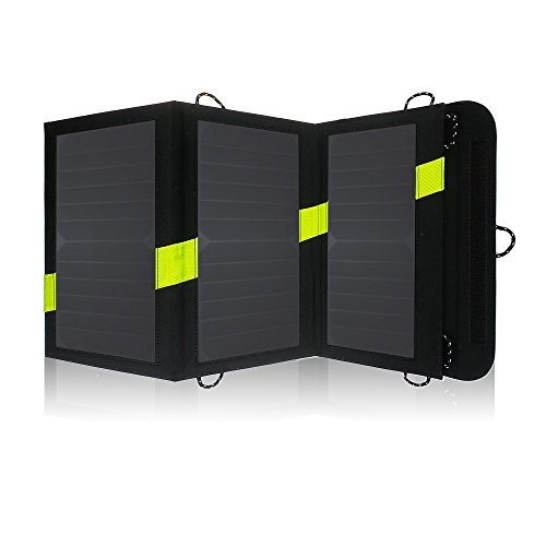 Foldable Solar Panel Charger For Tablets, Smartphones And Other USB-Charged Devices made our list of great solar products for camping