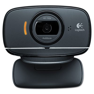 Full high-definition 720p resolution with auto-focus for smooth video. - LOGITECH, INC. Webcam C525,720P HD, 8MP, Black/Silver