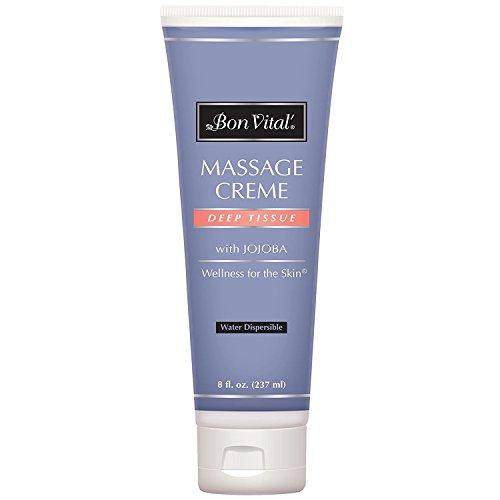 Bon Vital Deep Tissue Massage Creme, 8 oz. Refillable Tube by Bon Vital (Paper Creme)