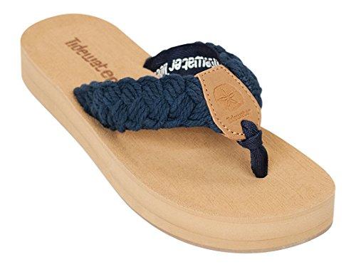 Navy Sandals Flip Tidewater Collection Club Beach Women's Flop qZwRx0pP