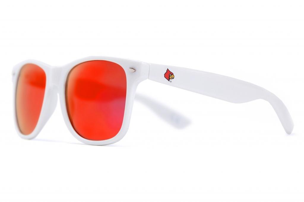 society43 NCAA Throwbacks – Louisville Cardinalsホワイトサングラス   B00EHRRKQY