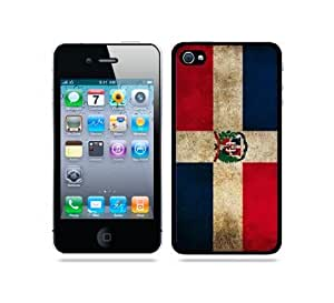 Flag of Dominican Republic Grunge - Protective Designer BLACK Case - Fits Apple iphone 6 plus 5.5 G
