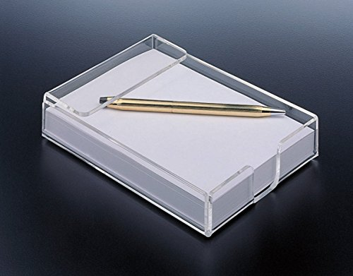 Holiday Gift - Acrylic Design Notepad Paper Holder, With Bonus Paper Included!! Modern Office Supplies. By Mega Stationers Acrylic Notepad