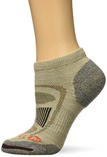 Merrell Women's Zoned Low Cut Light Hiker Sock, Oatmeal Heather, s/m by Merrell