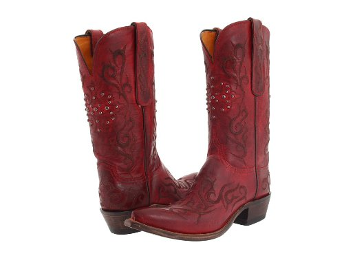 Lucchese Classics Women's N4724 Boot,Red Burnished Mad Dog Goat,11 B (M) US Burnished Mad Dog Goat