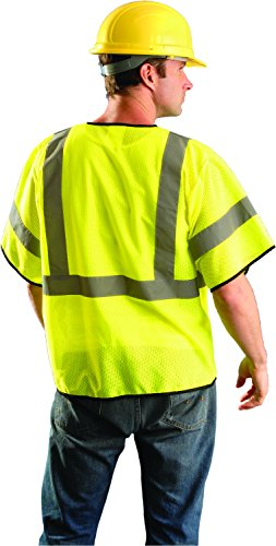 OccuNomix ECO-GCZ3-YS/M Value Mesh Standard Safety Vest, Class 3, ANSI Type R, Yellow, Small/Medium by OccuNomix (Image #1)