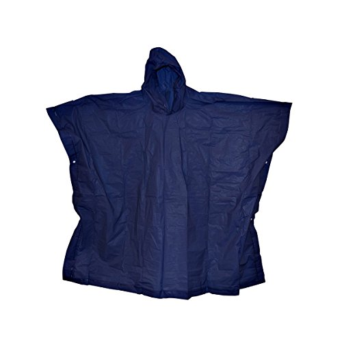 (The Weather Station Children's Emergency Rain Poncho with Snaps, 45 x 72 inches Navy)