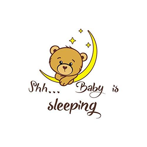 ❤️Jonerytime❤️Shh Baby is Sleeping Home Decor Wall Sticker Decal Bedroom Vinyl Art Mural Black