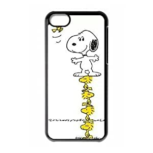 iPhone 5c Cell Phone Case Black Charlie Brown and Snoopy Caec
