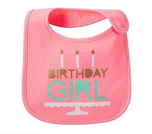 Carter's Just One You Baby Girls Pink Happy Birthday Bib