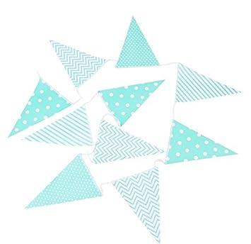 DISOK - Guirnalda Banderas Decorativas Eventos Papel Verde -Banderas, Banderitas, Guirnaldas Decorativas,decoración para Fiestas, Bodas, Cumpleaños, ...