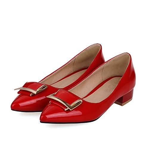Rosso 35 Zeppa Sandali Donna Dgu00463 red An Con fBxXXq
