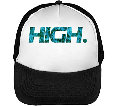 Blanco Negro High Gorras 1GD Smoking Swag Series Blaze Cool and Phrases Weed Beisbol Words It Hombre Snapback aPPBq