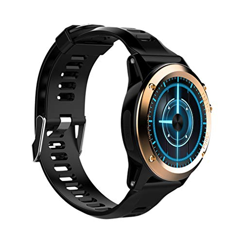 3g Silicone Touch (JIHUIA Waterproof Outdoor Fitness Smart Watches 3G SIM Watchproof Compass 500W HD Camera - Heart Rate Sensor Tracker Monitor Counter,Gold)