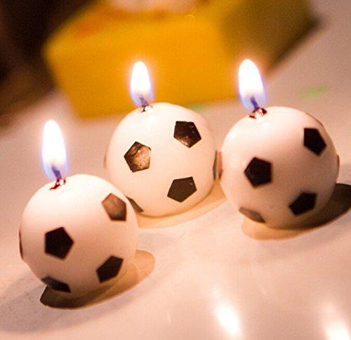 Fiesta de cumpleaños Cumpleaños velas creativo fútbol ...