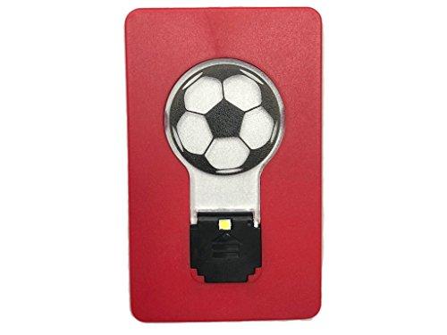 PRISTO - LUCE DI CALCIO Mini Soccer Flip Led Credit card sized Pocket light bulb Night (White Light) (Italy 1990 World Cup)