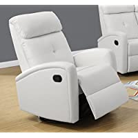 Monarch I 8088Wh Swivel Glider Recliner, White