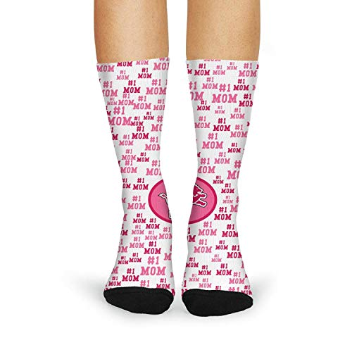 Landsr Women's Detroit Lions Mother's Day Print Casual Fashion Novelty Crew Socks