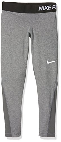 (Nike Kids Pro Cool Tight Little Kid/Big Kid Dark Grey Heather/Dark Grey/Black/White Girls Casual Pants)
