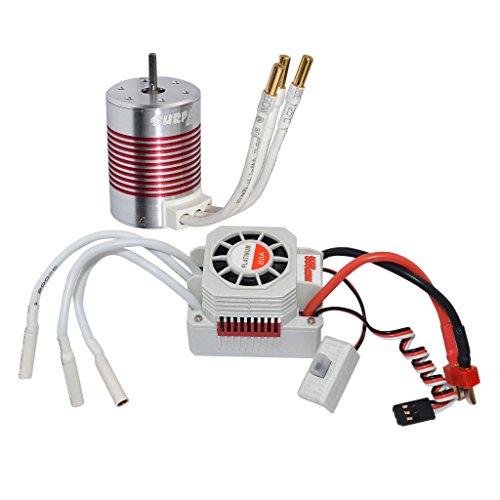 Crawler Motor Combo - MonkeyJack Waterproof 3650 5200KV Brushless Motor+60A ESC Combo Set for 1/10 RC Car Truck Durable