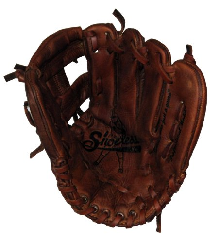 Old Time Baseball Mitt (Shoeless Joe Gloves Joe Junior Brown Mini Fielders Glove, Right Handed, 9-Inch)