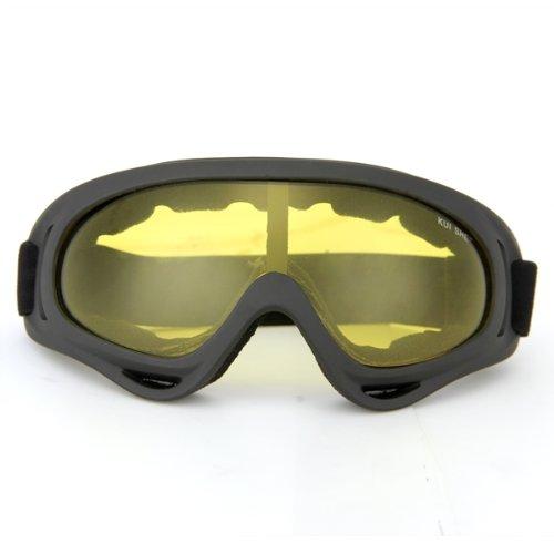 fitTek® Skibrille Snowboardbrille Radbrille Sportbrille Schutzbrille Goggle Gelb [Misc.]