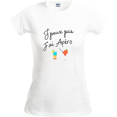 T-shirt femme taille S, je peux pas j'ai apero je peux pas j' ai apero