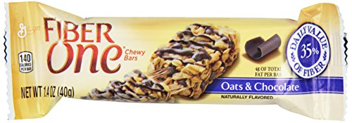 Fiber One Chewy Bars, Oats and Chocolate, 36-1.4oz Bars (One Fiber Oats)