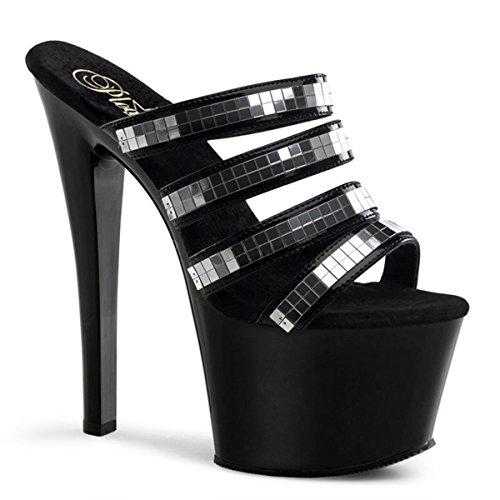Heels-Perfect - Pantuflas de caña alta de material sintético mujer negro - negro