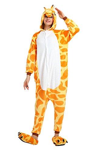 Cousinpjs Adult Cosplay Costume Animal Sleepwear Halloween Pajamas (Medium, Giraffe)]()