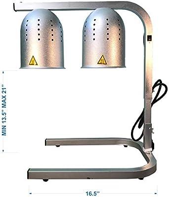 Amazon Com Avantco Commercial Portable W62 Heat Lamp Food Warmer 2 Bulb Free Standing