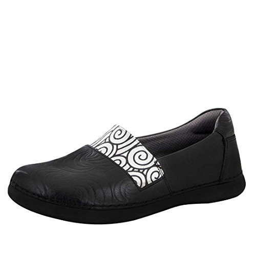Alegria Frauen Glee Loafer Schwarz Swirly Stempel