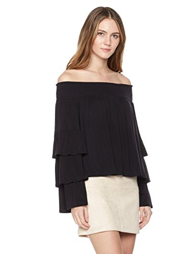 Painted Heart Women's Tier Sleeve Off-Shoulder Top