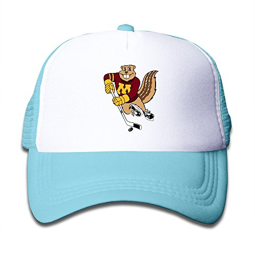 Hot Topic Minnesota Golden Gophers Kids Baseball Trucker Caps Hat Boys Girls Adjustable One Size SkyBlue By JE9WZ (Gopher Hockey Hat)