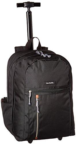 Friends Backpack Rolling (Vera Bradley Lighten up Large Rolling Backpack, Polyester, Black)