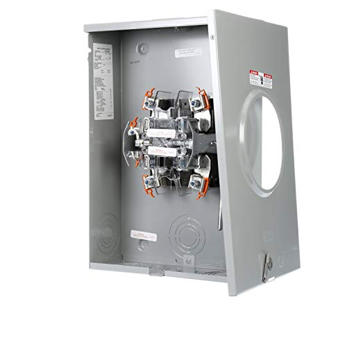 (Murray RH173CRF Murray 200-Amp, 5 Jaw, Ringless Cover, Lever Bypass, Overhead And Underground Feed, Meter Socket)