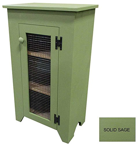 Sawdust City Kitchen Jelly Cupboard with Screen Door (Solid Sage)