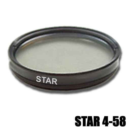 DynaSun 58mm Slim 4 Point Star Light Flare Cross Filter for Canon, Nikon, Pentax, Olympus, Samsung, Sony, Panasonic, Fujifilm Camera
