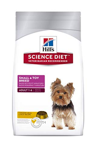 Hill's Science Diet Adult Small & Toy Breed Dog Food, Chicken Meal & Rice Recipe Dry Dog Food, 4.5 lb Bag by Hill's Science Diet