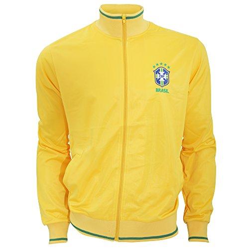 Brasil CBF Football Crest Chaqueta de fútbol para hombre, talla M, color amarillo Hombre (Pack de 1)
