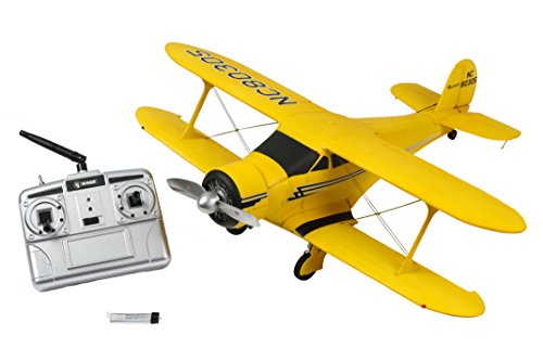 Rage RC A1109 Beechcraft Model 17 Staggerwing RC Airplane, Yellow