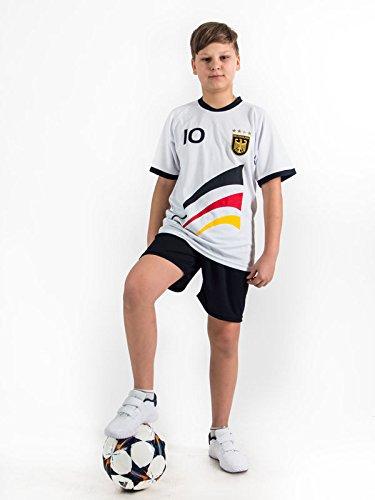 Fußball Trikotset Trikot Kinder 4 Sterne Deutschland WUNSCHNAME Nummer Geschenk Größe 98-170 T-Shirt Weltmeister 2014 Fanartikel EM 2016 (122)