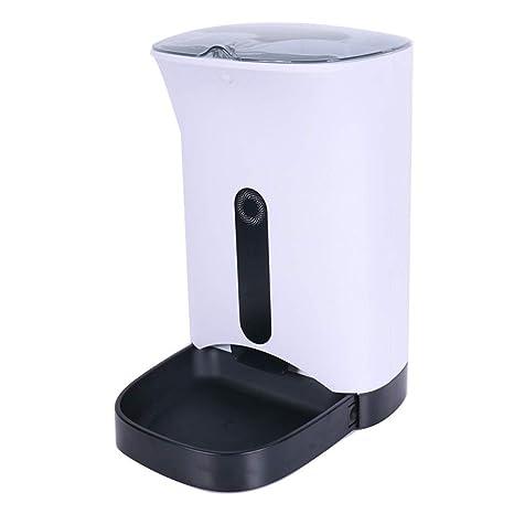 Alimentador de LCD Touch Cat, dispensador automático de Alimentos para Gatos Alimentador de Smart Pet Dog con Control y grabación de Voz: Amazon.es: ...