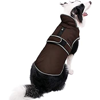 MIGOHI Reflective Waterproof Windproof Dog Coat Cold Weather Warm Dog Jacket Reversible Stormguard Winter Dog Vest for Small Medium Large Dogs (Brown, XS)